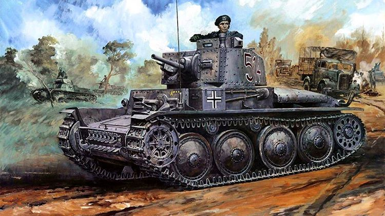 Takani Yoshiyuki. Танк PzKpfw 38(t).