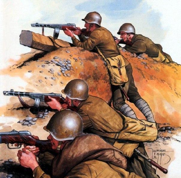 Wrobel Jaroslaw. Советская пехота в окопах.