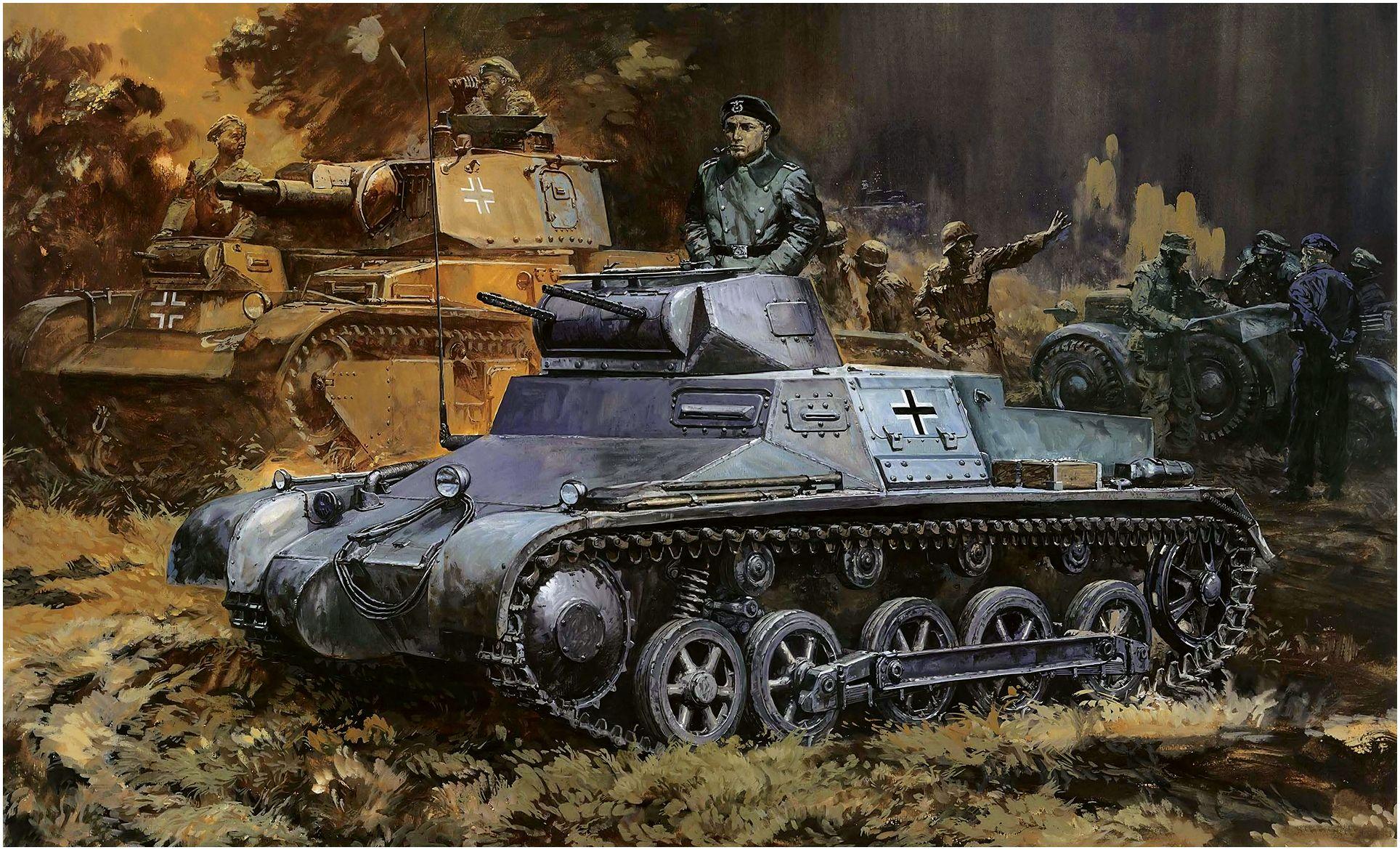 Takani Yoshiyuki. Танк Pz.Kpfw. I Ausf. B.