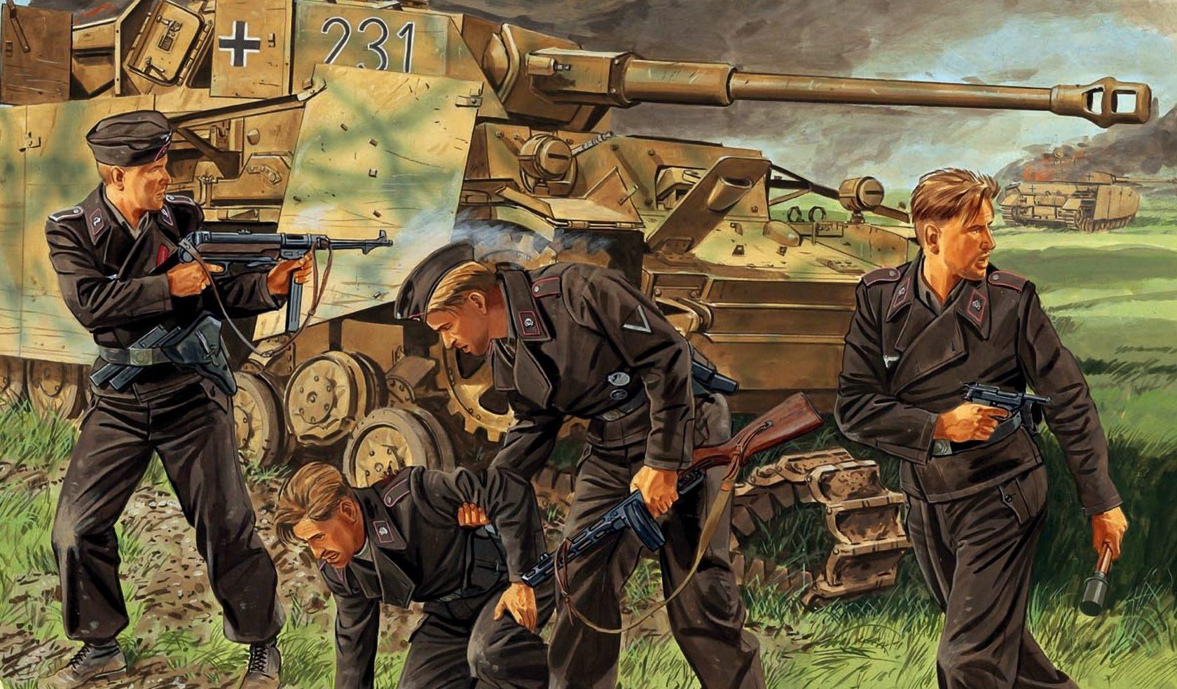 Volstad Ronald. Немецкие танкисты.