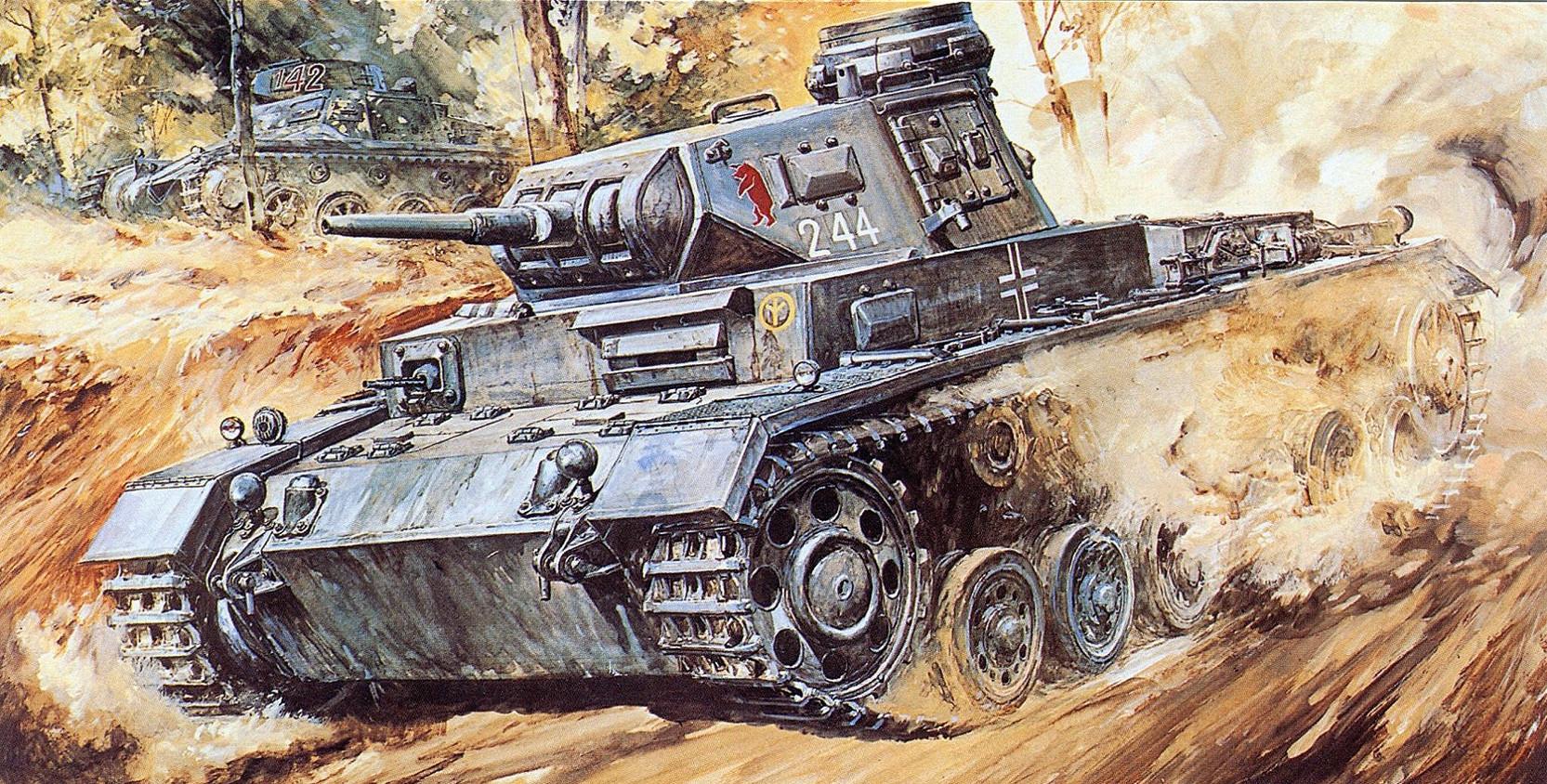 Takani Yoshiyuki. Танк Pz.Kpfw. III Ausf. E.