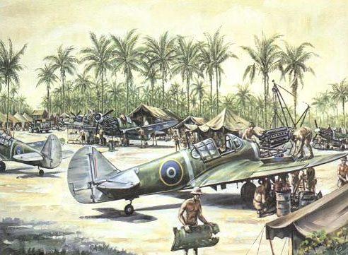Conly Maurice. Истребитель Kittyhawks P-40.