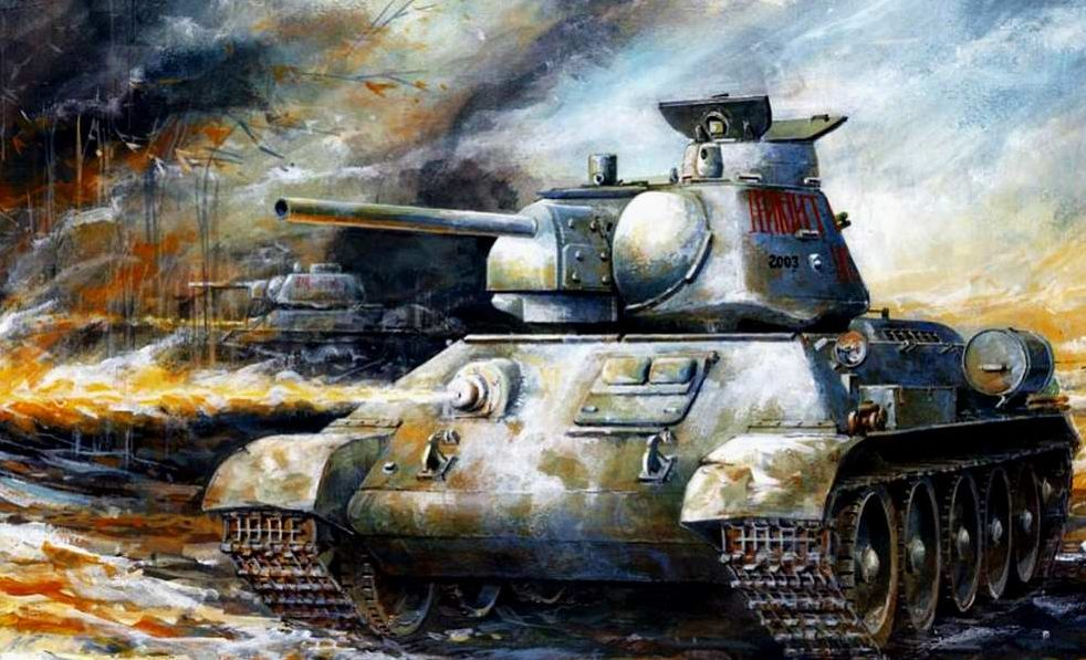 Wai Vincent. Т-34 идут в атаку.