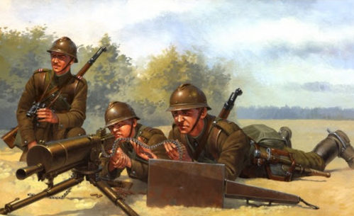 Wrobel Jaroslaw. Польский пулеметный расчет.
