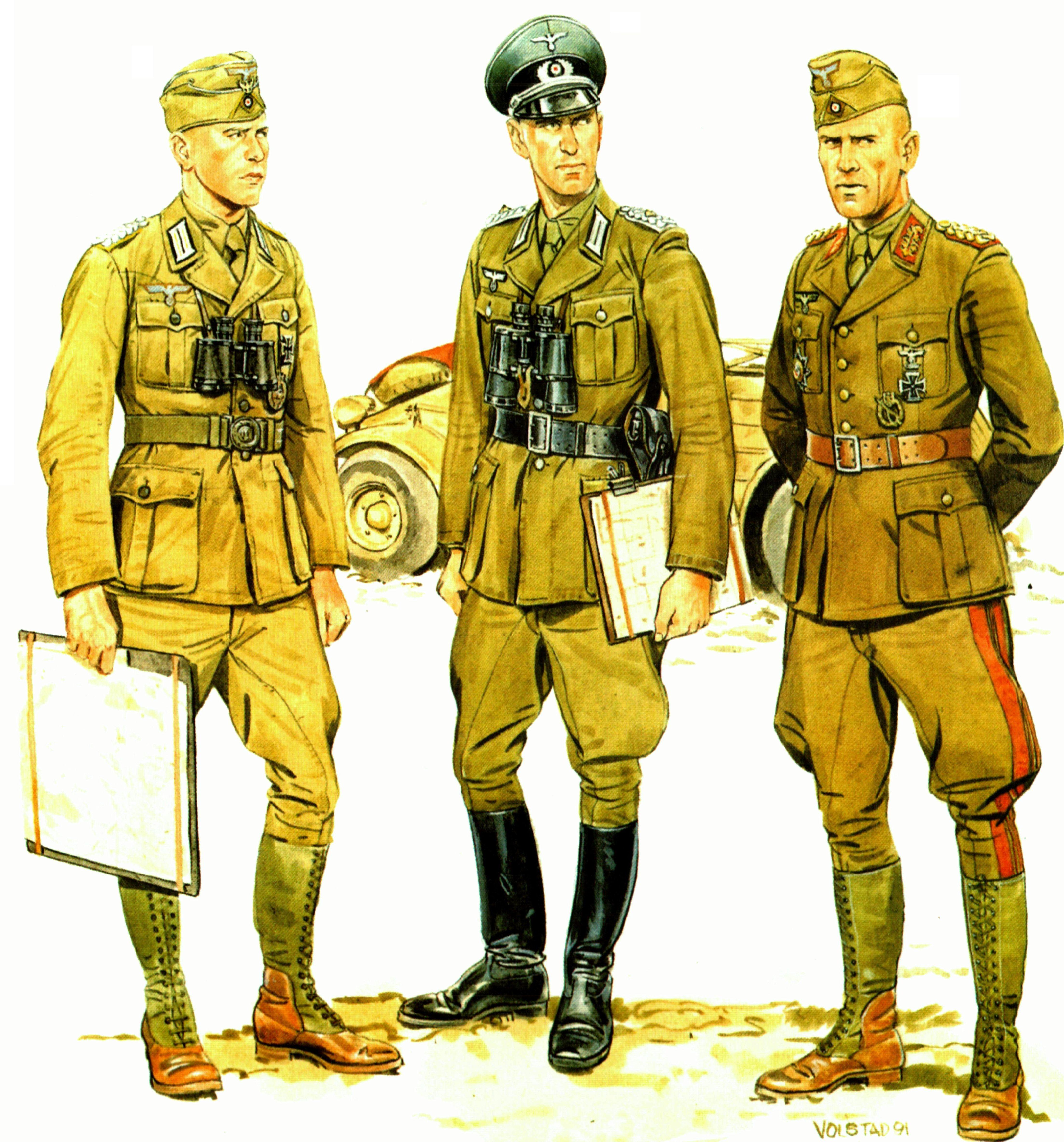 Volstad Ronald. Немецкие офицеры.