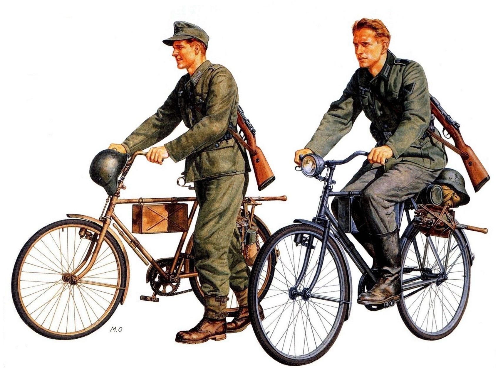 Onishi Masami. Немецкие велосипедисты.