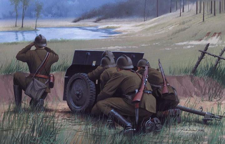 Wrobel Jaroslaw. Польские артиллеристы.