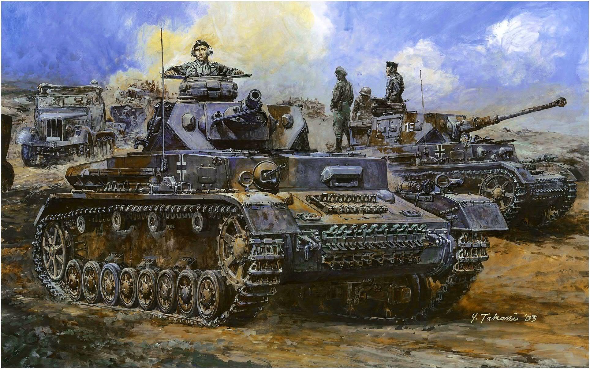 Takani Yoshiyuki. Танк Pz.Kpfw. IV Ausf. F1.