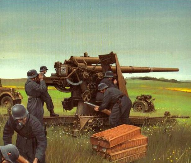 Wrobel Jaroslaw. Противотанковое орудие 88-mm Flak 18.