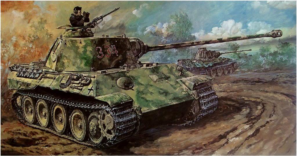 Takani Yoshiyuki. Танк Panther.