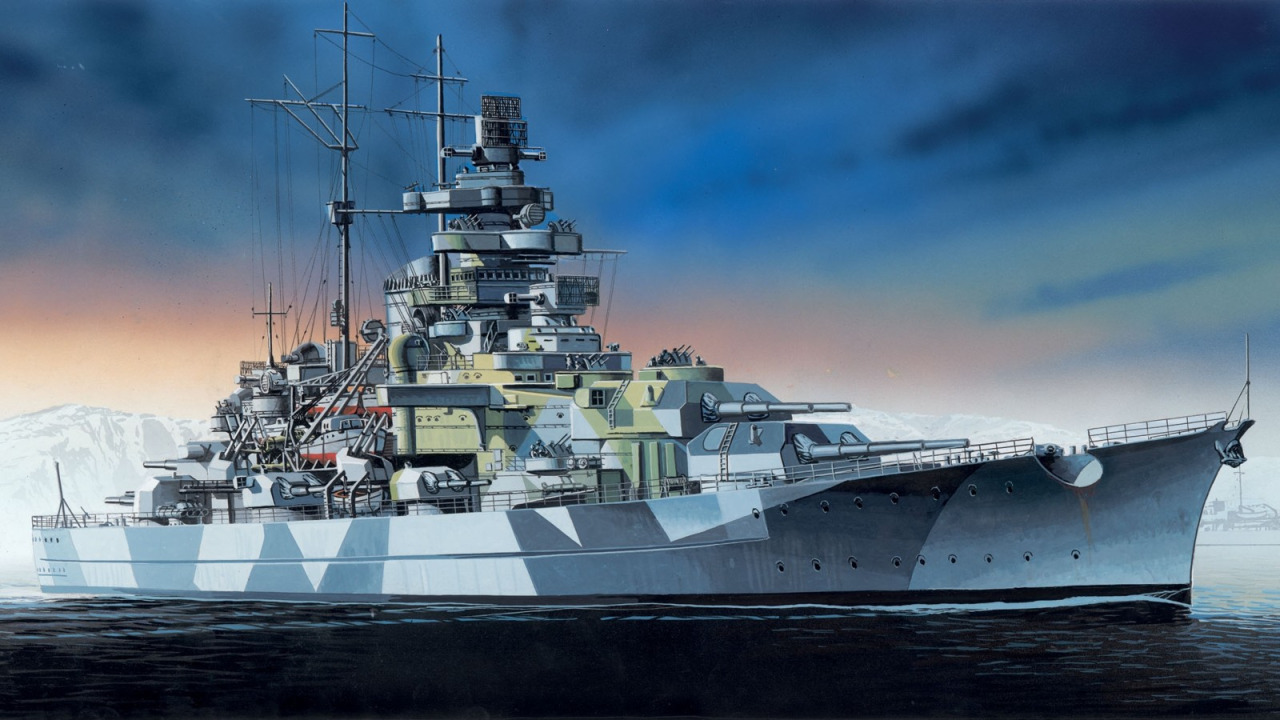 Satake Masao. Линкор «Tirpitz».