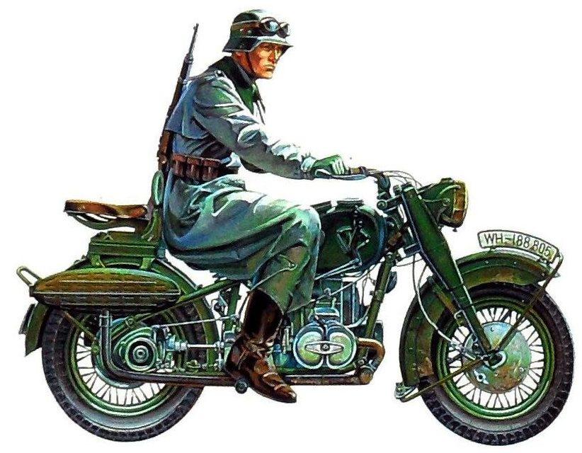 Onishi Masami. Немецкие мотоциклисты.