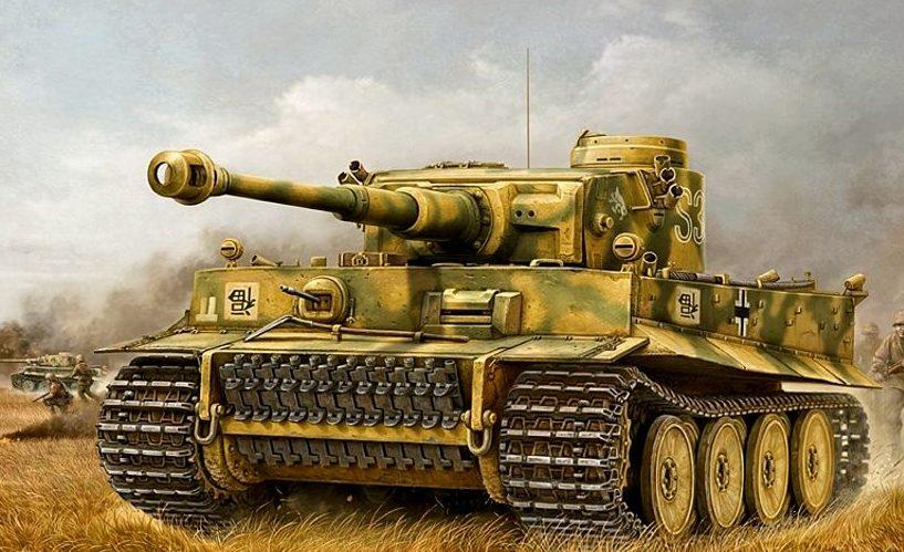 Wai Vincent. Танк Tiger I.