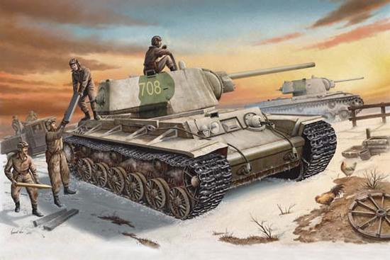 Wai Vincent. Танки КВ-1 с пехотой.