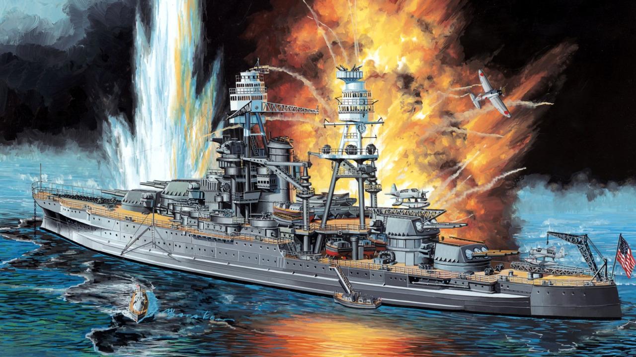 Satake Masao. Линкор «Arizona» в Pearl Harbor.