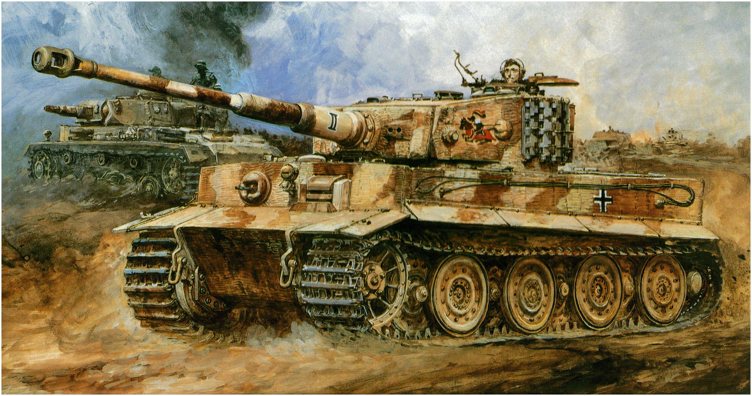 Takani Yoshiyuki. Танк Tiger I.