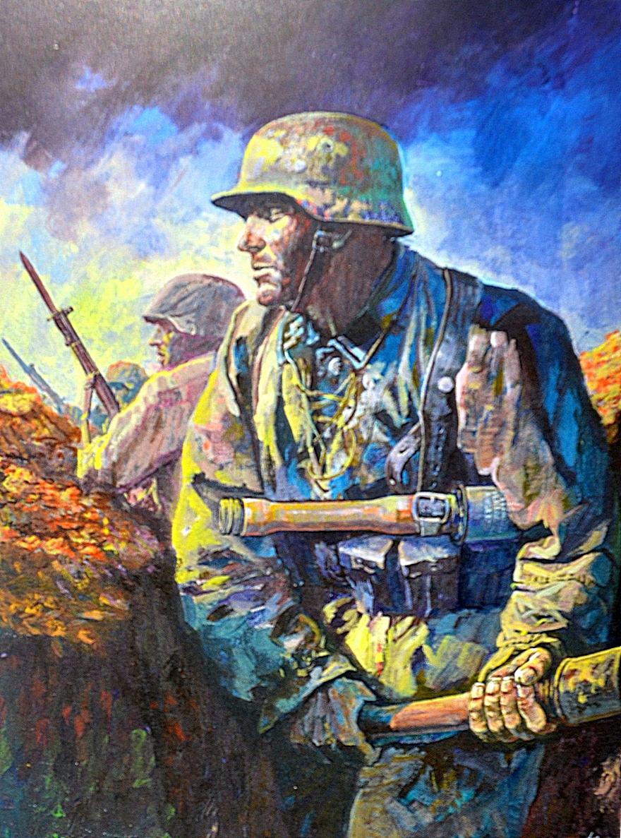 Ueda Shin. Немецкие солдаты.