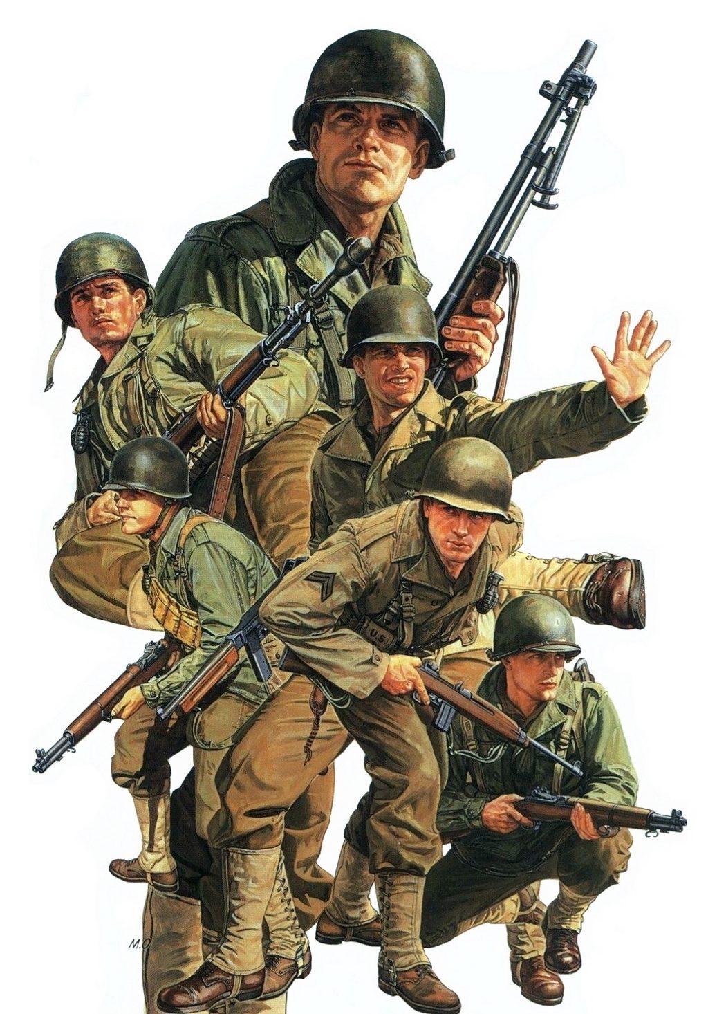 Onishi Masami. Американские пехотинцы.