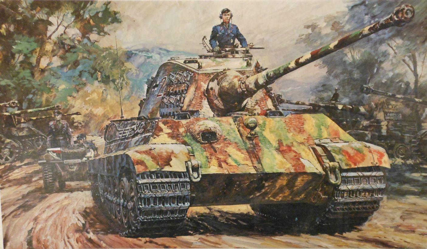 Takani Yoshiyuki. Танк Tiger II.