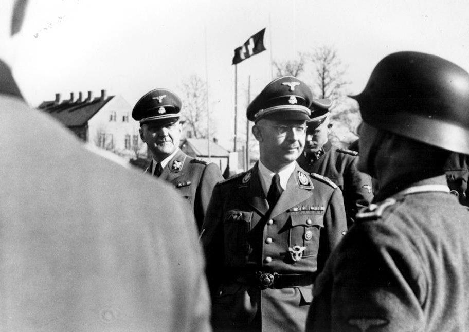 Кристиан Бергер Готтлоб и Генрих Гиммлер. Словакия. 1944 г.