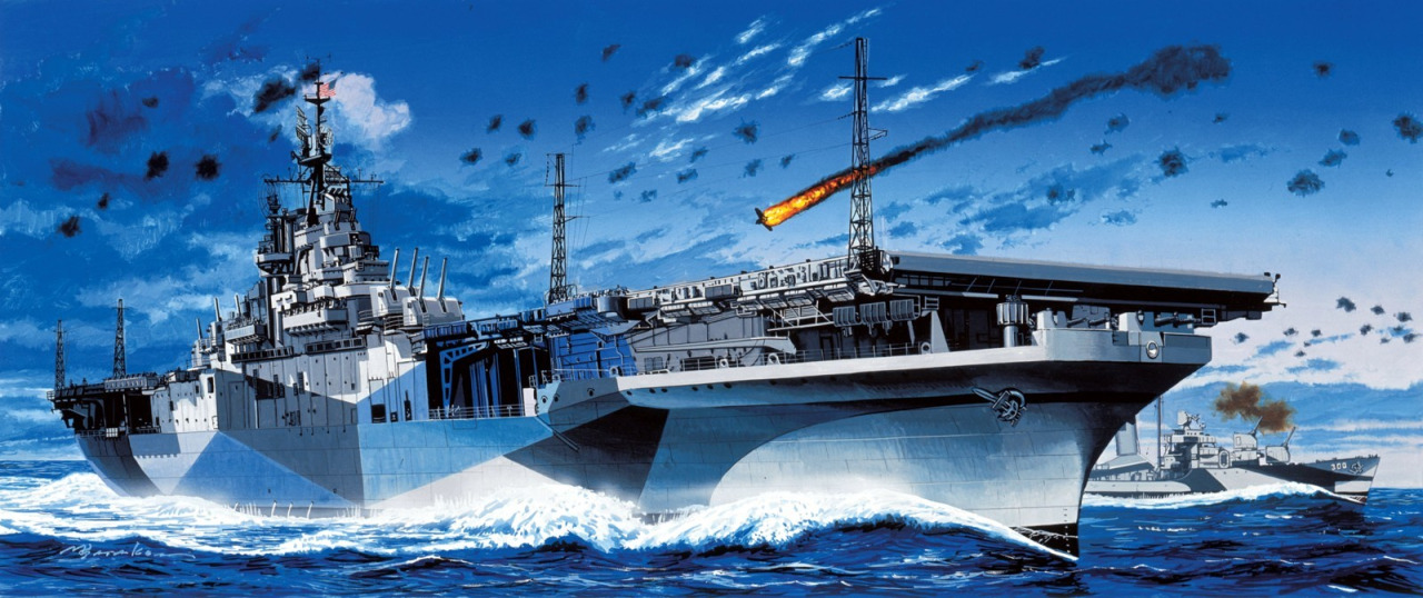 Satake Masao. Авианосец «Randolph».