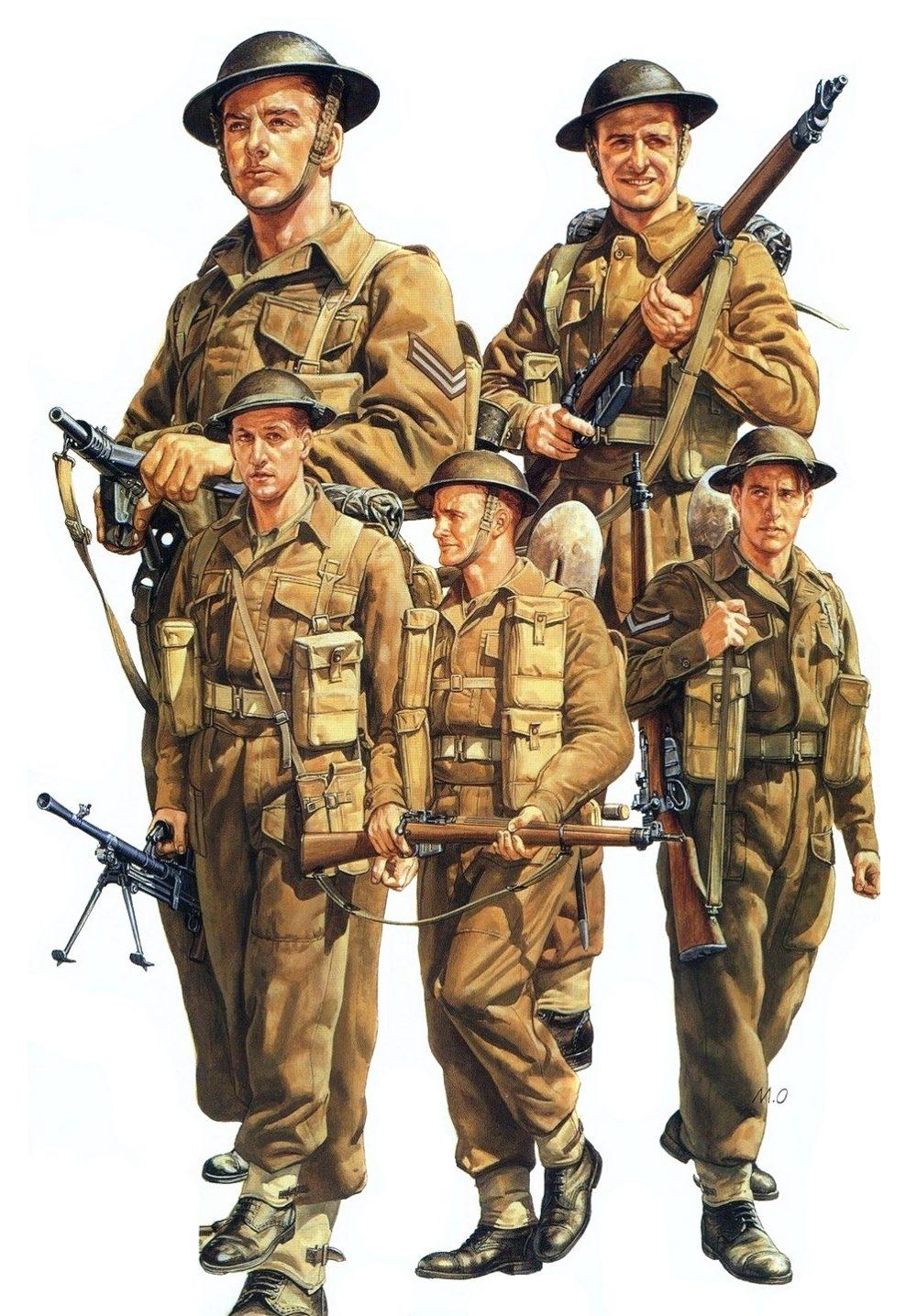 Onishi Masami. Британские пехотинцы.
