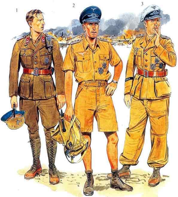 Солдаты в тропической униформе.