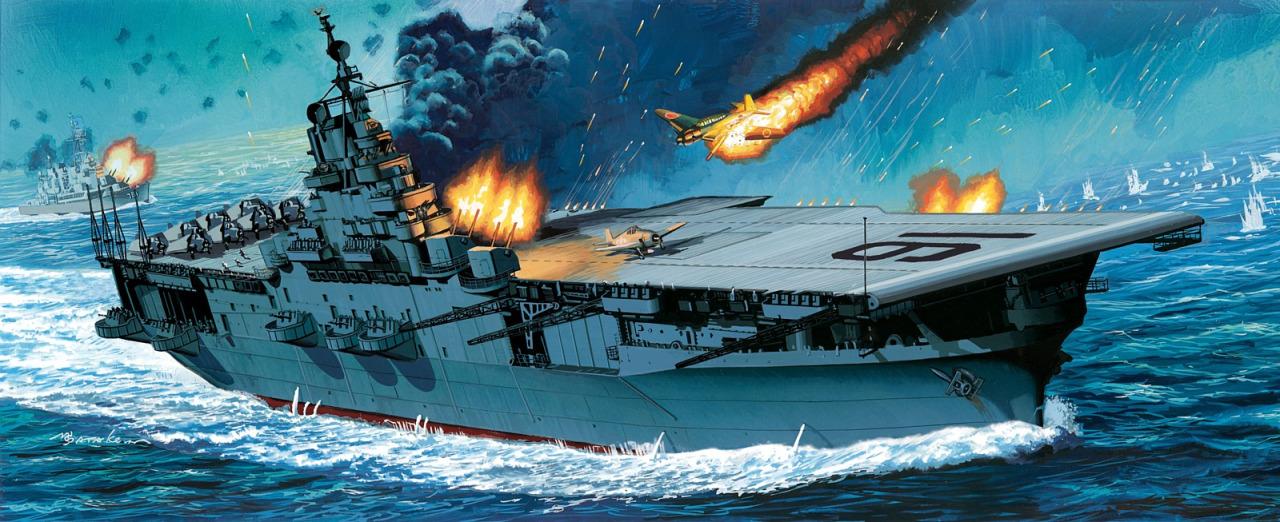 Satake Masao. Авианосец «Lexington».