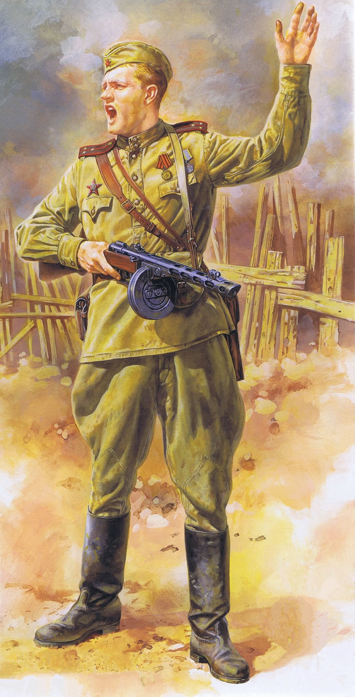 Onishi Masami. Советская пехота.