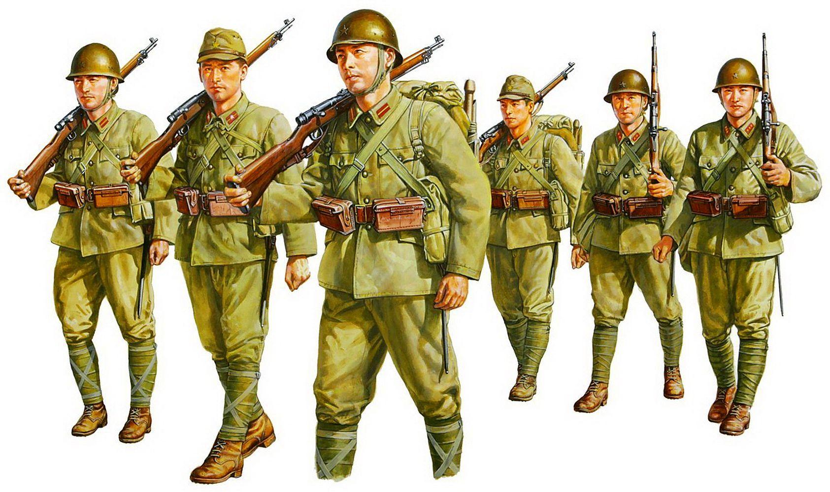 Onishi Masami. Японская пехота.