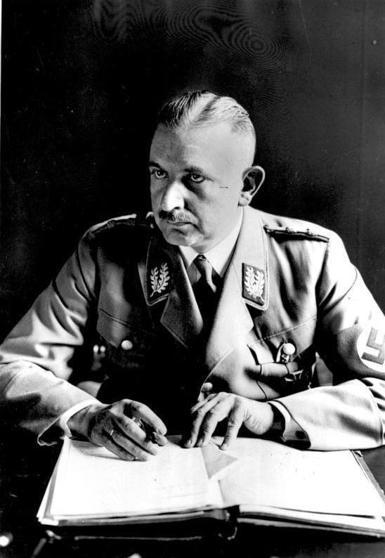 Руст Бернгард. Рейхсминистр науки, воспитания и народного образования.1934 г.