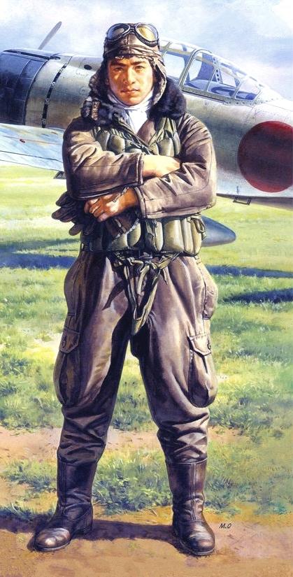 Onishi Masami. Японский пилот.
