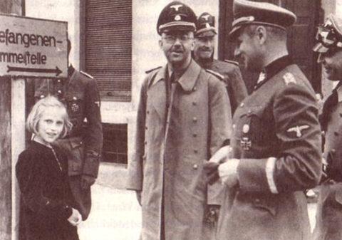 Карл Вольф с дочерью и Генрихом Гимлером. 1943 г.