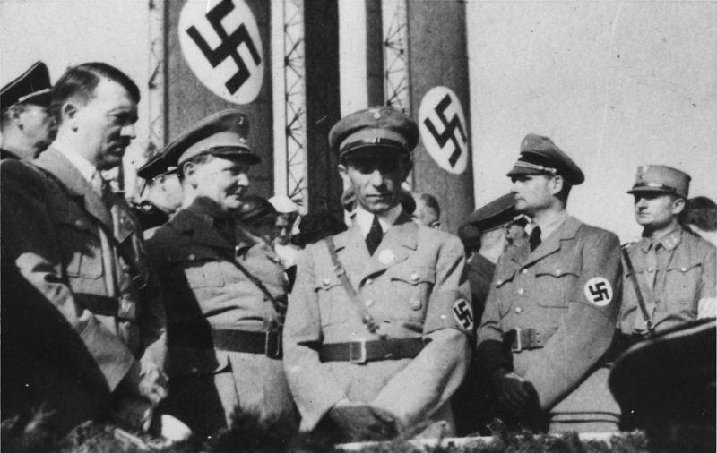 Герман Геринг, Адоль Гитлер, Йозеф Геббельс, Рудольф Гесс. 1934 г.