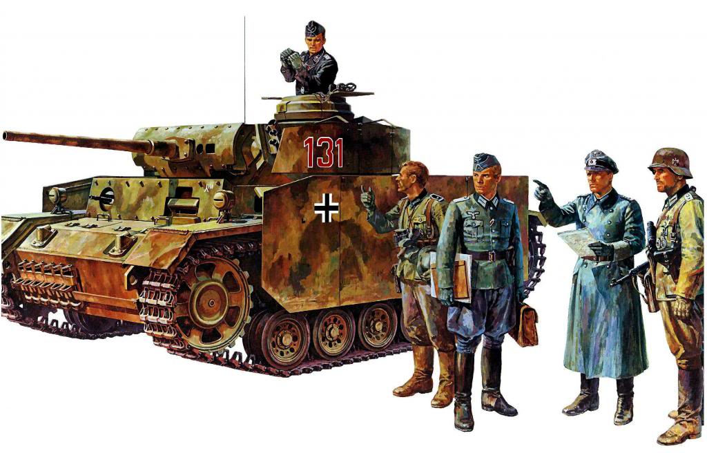 Onishi Masami. Танк Panzer III Ausf. M.