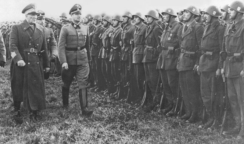 Карл Вольф и Родольфо Грациани. Италия. 1944 г.
