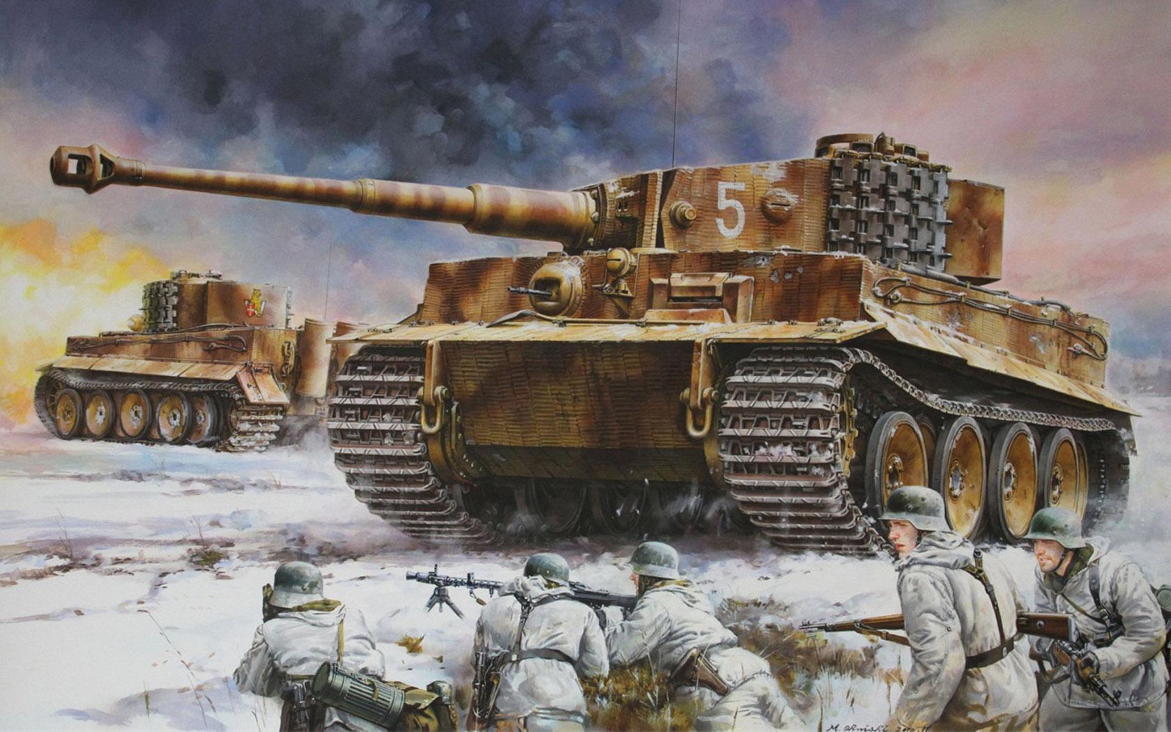 Onishi Masami. Танк Tiger I.