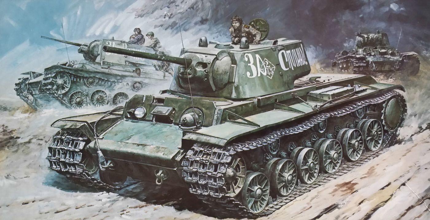 Takani Yoshiyuki. Танк КВ-1.