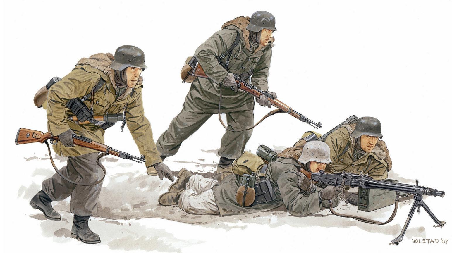 Volstad Ronald. Немецкая пехота.