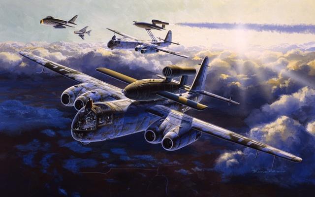 Satake Masao. Бомбардировщик Arado Ar.234C-3 с ракетой.