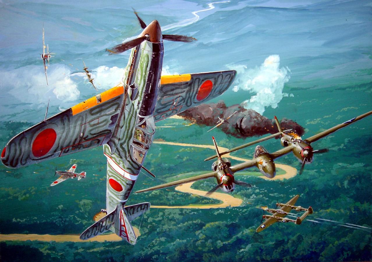 Yoshihara Mikiya. Воздушный бой.