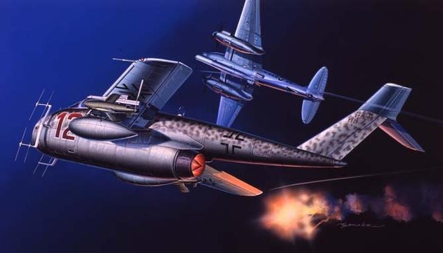 Satake Masao. Реактивный самолет Messerschmitt Me 1101.