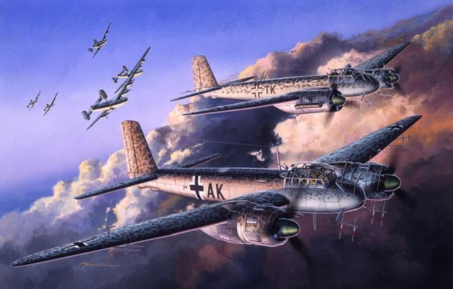 Satake Masao. Бомбардировщики Ju-88.