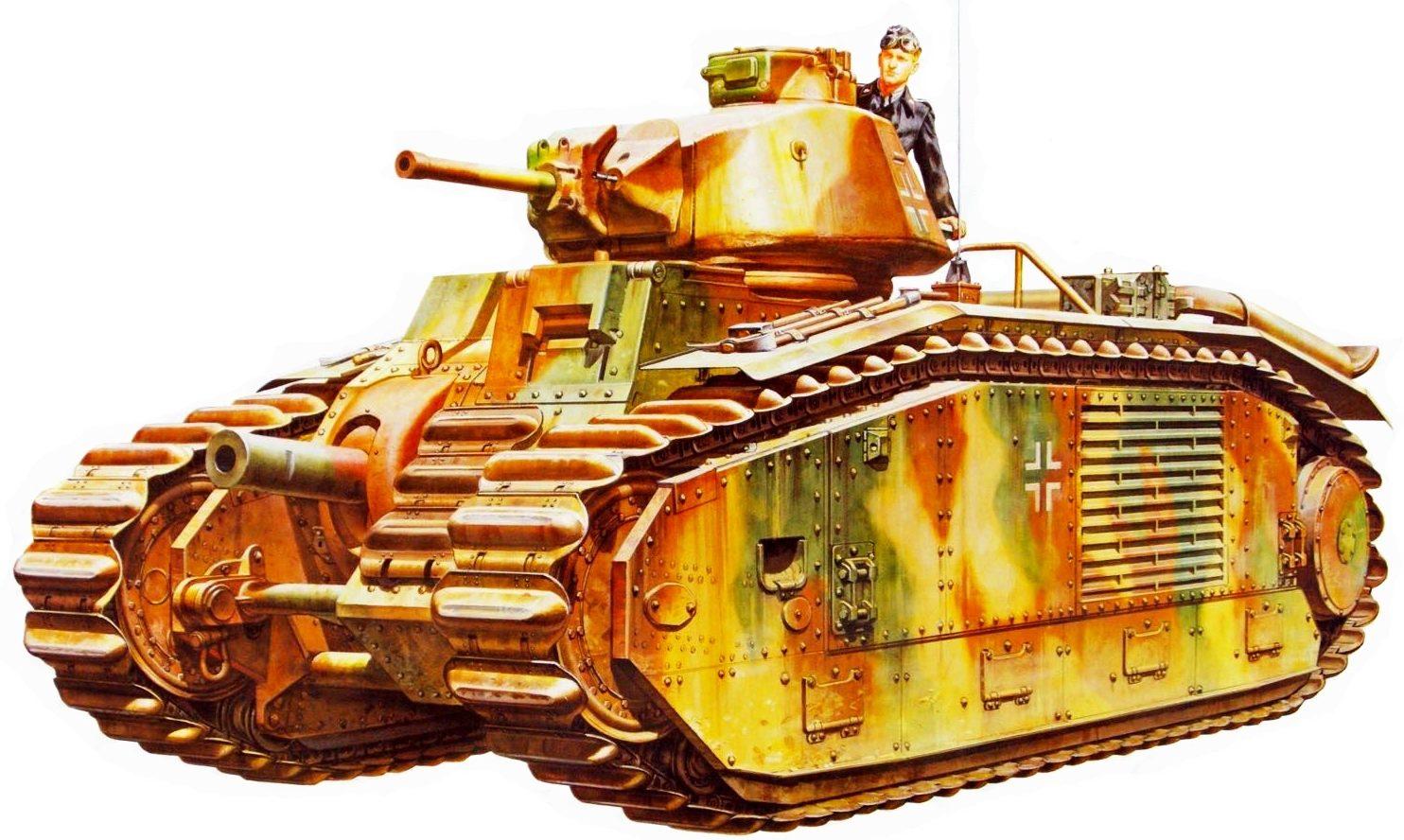 Onishi Masami. Танк Panzerkampfwagen B2 740(f).