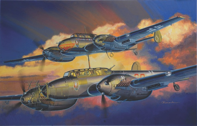 Satake Masao. Истребитель Bf-110.