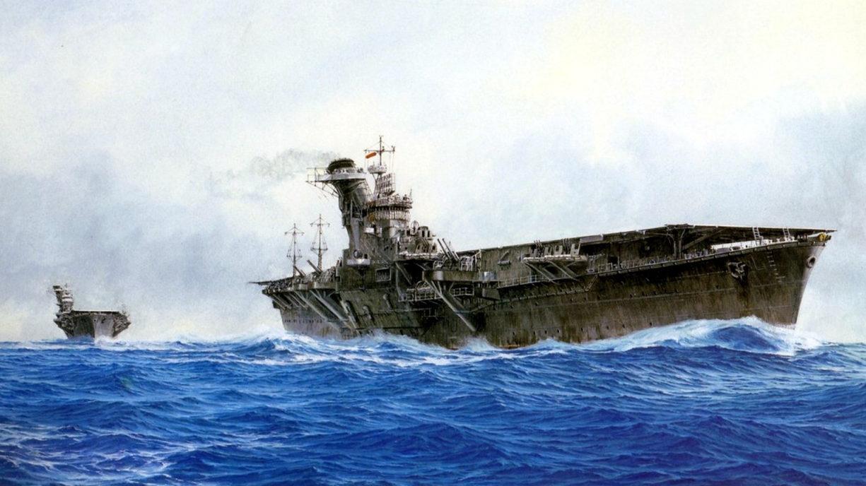 Yuki Takeshi. Авианосец «Hiyo».