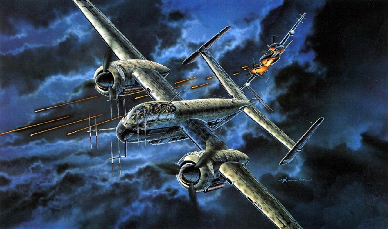 Satake Masao. Ночной истребитель Heinkel 219.