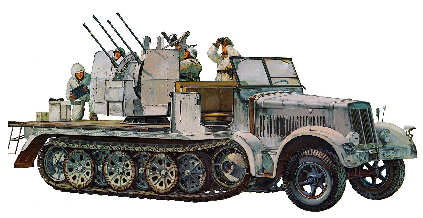 Onishi Masami. ЗСУ 2 cm Flakvierling 38.