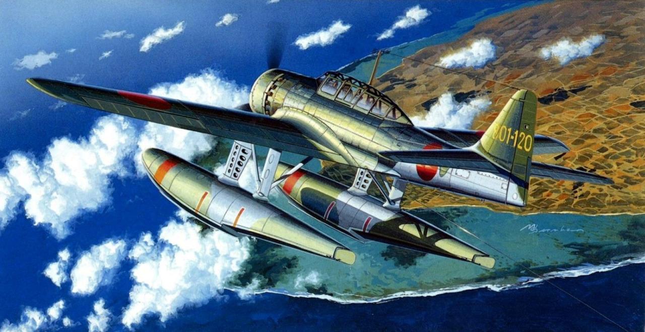 Satake Masao. Гидросамолет Aichi E-16A1.