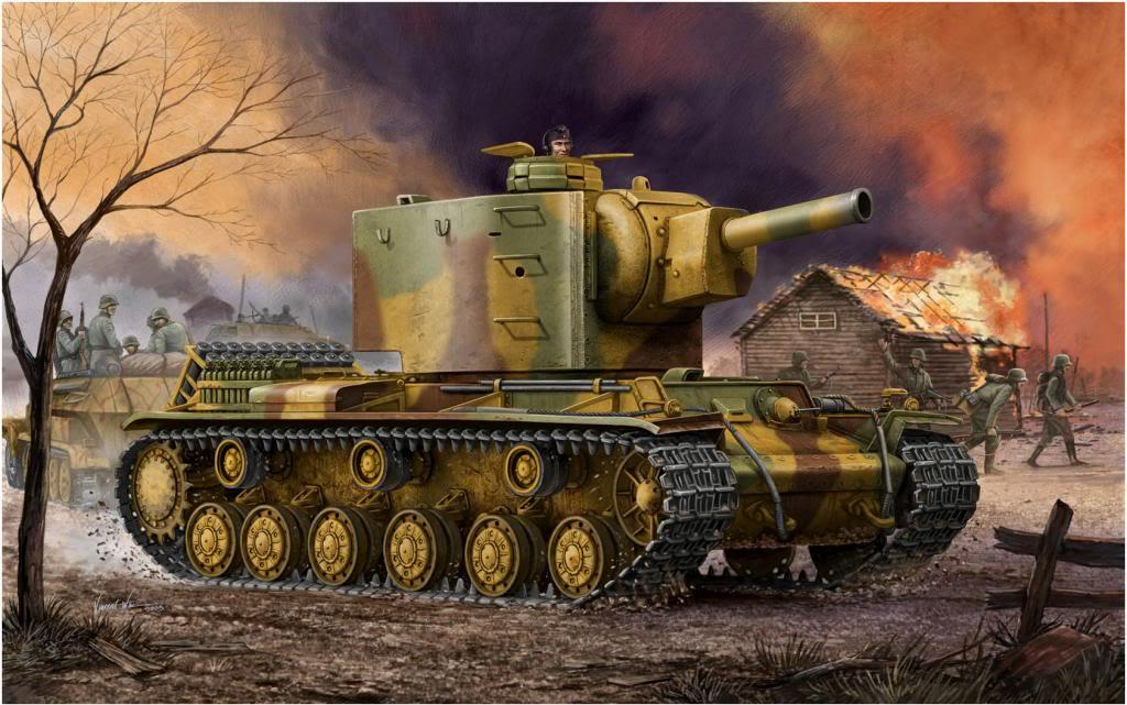Wai Vincent. Трофейный танк Panzer 754(r) «Beutepanzer KV-2».